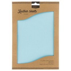 STUDIO LIGHT FAKE LEATHER SHEETS 2x A4 BABY BLUE nr. 08