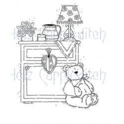 HELZ CUPPLEDITCH TEDDY GET WELL SOON, CLEAR STAMP