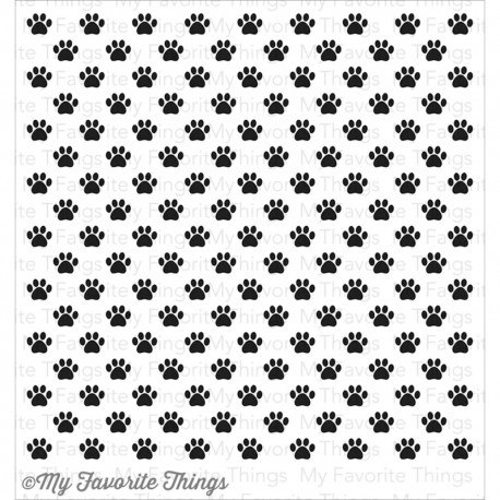 BACKGROUND CLING PAW PRINT