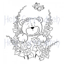 HELZ CUPPLEDITCH TEDDY SAY IT WITH FLOWERS, CLEAR STAMP