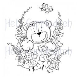 HELZ CUPPLEDITCH TEDDY SAY IT WITH FLOWERS, CLEAR STAMP