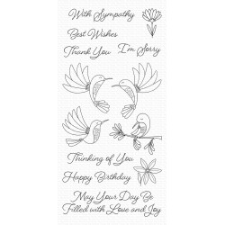 MFT HAPPY HUMMINGBIRDS CLEAR STAMPS