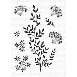 MFT DANDELION GREENERY CLEAR STAMPS