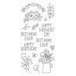 MFT MOTHERS DAY BOUQUET CLEAR STAMPS