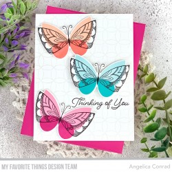 MFT BRILLIANT BUTTERFLIES CLEAR STAMPS