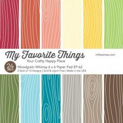 My favorite Things WOODGRAIN WHIMSEY PAPER PACK 15X15 CM MFT