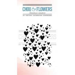 CHOU & FLOWERS TAMPONS CLEAR FOND COEUR