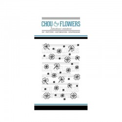 CHOU & FLOWERS TAMPONS CLEAR FOND TREFLES