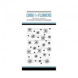 CHOU & FLOWERS TAMPONS CLEAR FOND TREFLES