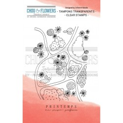 CHOU & FLOWERS TAMPONS CLEAR PRINTEMPS
