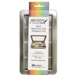 RANGER ARCHIVAL MINI INK KIT TIN STORAGE