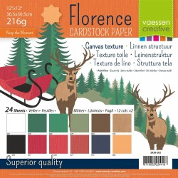 FLORENCE CARDSTOCK -SET NOEL 30.5 X 30.5 CM