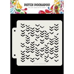 Dutch Doobadoo STENCIL MASK ART GRUNGE CHEVRONS