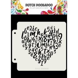 Dutch Doobadoo STENCIL MASK ART ALPHABET HEART