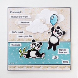 Marianne Design • Eline's clear stamps & dies set animals PANDAS