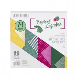 Tonic Studios TROPICAL PARADISE PAPER PAD 15X15 cm