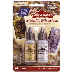 Ranger • Adirondack metallic alcohol mixative kit gold silver