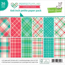 LAWN  FAWN PERFECTLY PLAID CHRISTMAS PAPER PAD