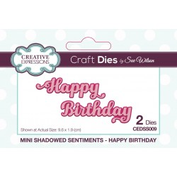 Creative Expressions • Sue Wilson die mini shadowed sentiments happy birthday