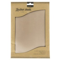 STUDIO LIGHT FAKE LEATHER SHEETS 2x A4 ANTIQUE BRONZE NO 1