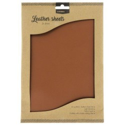STUDIO LIGHT FAKE LEATHER SHEETS 2x A4 LIGHT BROWN NO.2