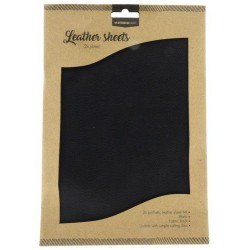STUDIO LIGHT FAKE LEATHER SHEETS 2x A4 BLACK NO.4