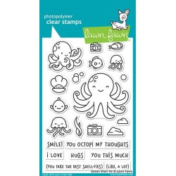LAWN FAWN OCEAN SHELL-FIE CLEAR STAMPS