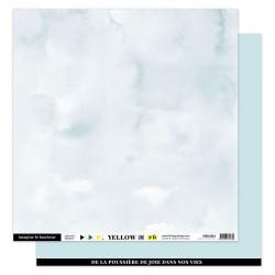 FLORILEGES DESIGN Papier uni BLEU CIEL, 30,5 x 30,5 cm