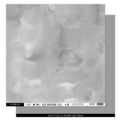 FLORILEGES DESIGN Papier uni GRIS ORAGE, 30,5 x 30,5 cm