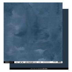 FLORILEGES DESIGN Papier uni BLEU NUIT, 30,5 x 30,5 cm