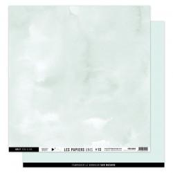 FLORILEGES DESIGN Papier uni VERT D'EAU, 30,5 x 30,5 cm