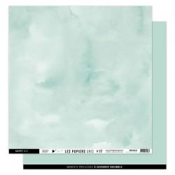 FLORILEGES DESIGN Papier uni VERT MINT, 30,5 x 30,5 cm