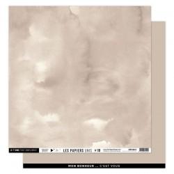 FLORILEGES DESIGN Papier uni BEIGE ANGORA, 30,5 x 30,5 cm