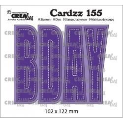 Crealies CARDZZ 155, BDAY. Cardsize