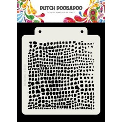 Dutch Doobadoo Dutch Mask Art stencil CROCODILE