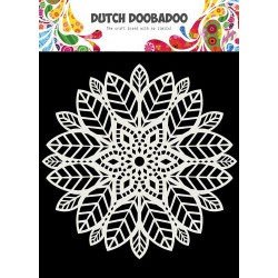 Dutch Doobadoo Dutch Mask Art stencil MANDALA LEAVES