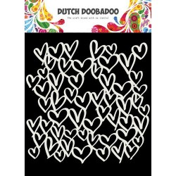 Dutch Doobadoo Dutch Mask Art stencil HEARTS