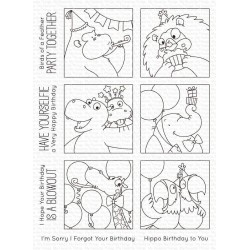 MFT BB PICTURE PERFECT PARTY ANIMALS CLEAR STAMPS