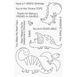 MFT A-ROAR-ABLE FRIENDS CLEAR STAMPS