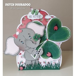 Dutch Doobadoo Card Art BUILD UP ELEPHANT A5