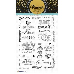 STUDIO LIGHT CLEAR STAMPS PLANNER JOURNAL 03