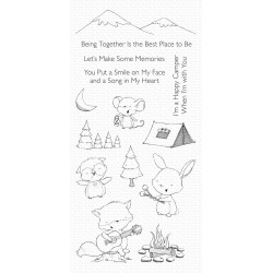 MFT HAPPY CAMPERS CLEAR STAMPS