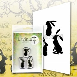 Lavinia Stamps WILD HARES SET SMALL