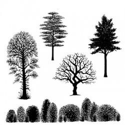 Lavinia Stamps TREE SCENE