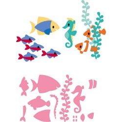MARIANNE DESIGN COLLECTABLES ELINES TROPICAL FISH