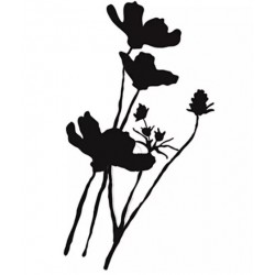 UNITY STAMP WILD POPPY SILHOUETTE, CLING STAMP