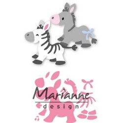 MARIANNE DESIGN COLLECTABLES ELINES ZEBRA AND DONKEY