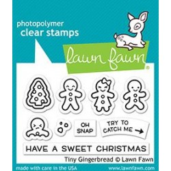 LAWN FAWN CLEAR STAMPS TINY GINGERBREAD
