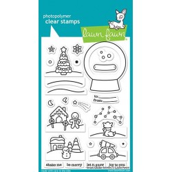 LAWN FAWN CLEAR STAMPS SNOW GLOBE SCENES