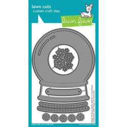 LAWN FAWN CUTS MAGIC IRIS SNOW GLOBE ADD-ON